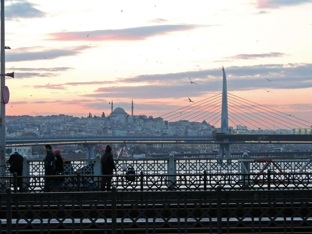 Sonnenuntergang Brücke über Bosporus