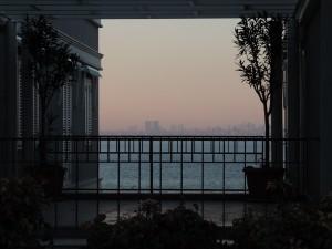 Blick bei Sonnenuntergang
