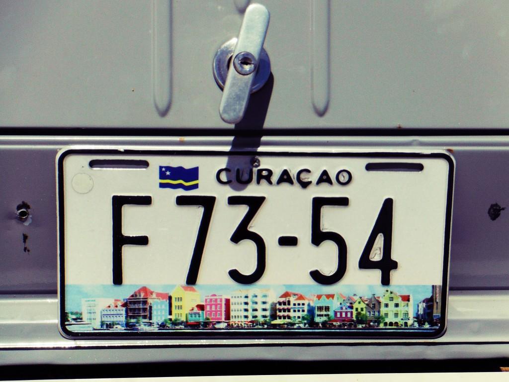 Curacao Nummernschild 3 dreh