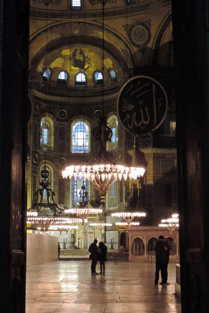 Hagia Sophia Blick durch Tür
