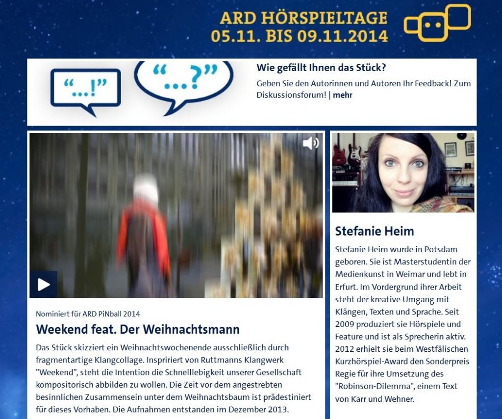 Weekend ARD Hörspieltage